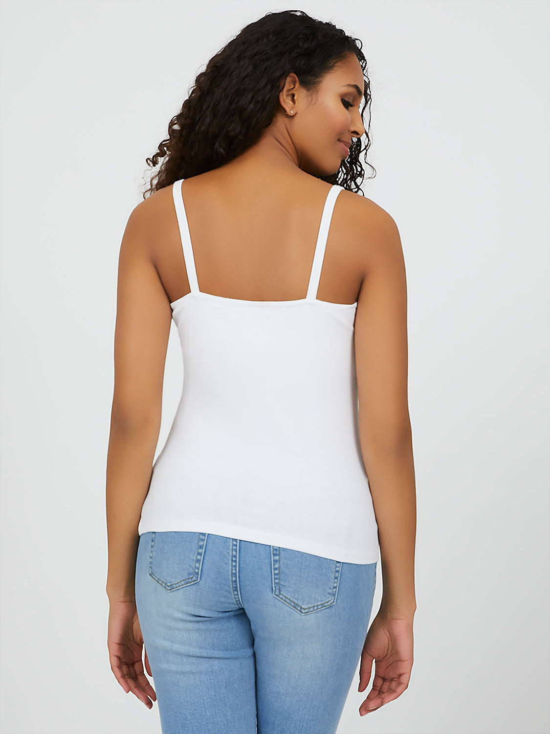 Square Neck Spaghetti Strap Tank Top