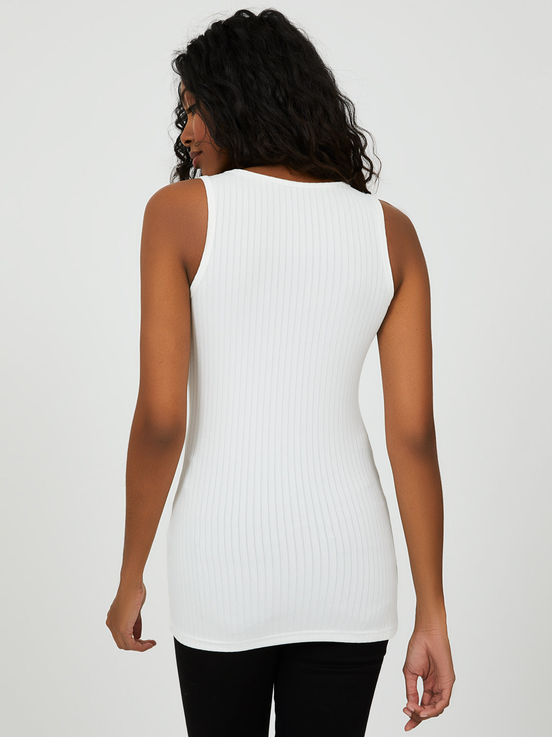 Rib Knit Tunic Tank Top