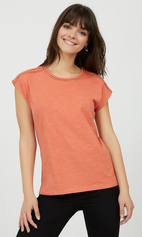 Short Dolman Sleeve Cotton Tee