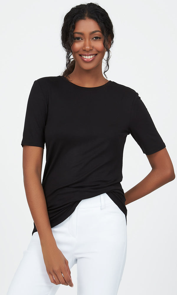 Short Sleeve Scoop Neck Top
