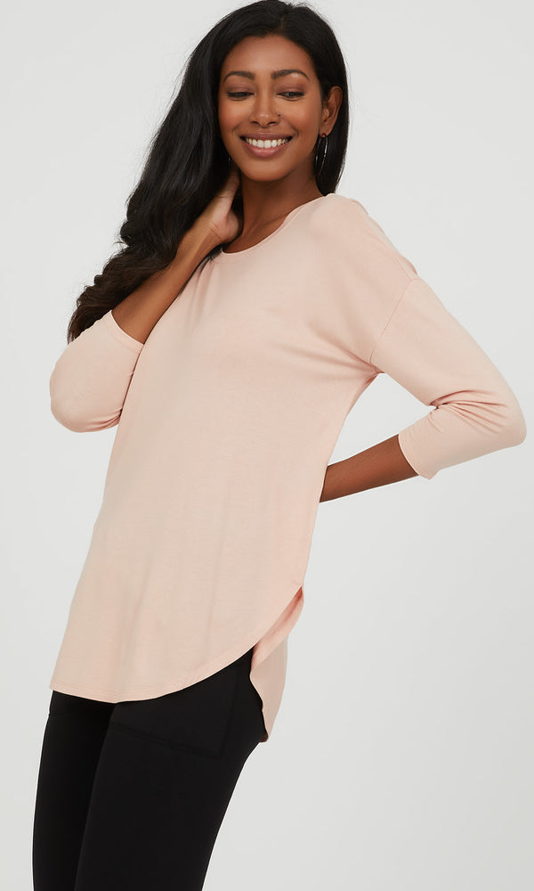 ¾ Drop Sleeve Knit Top