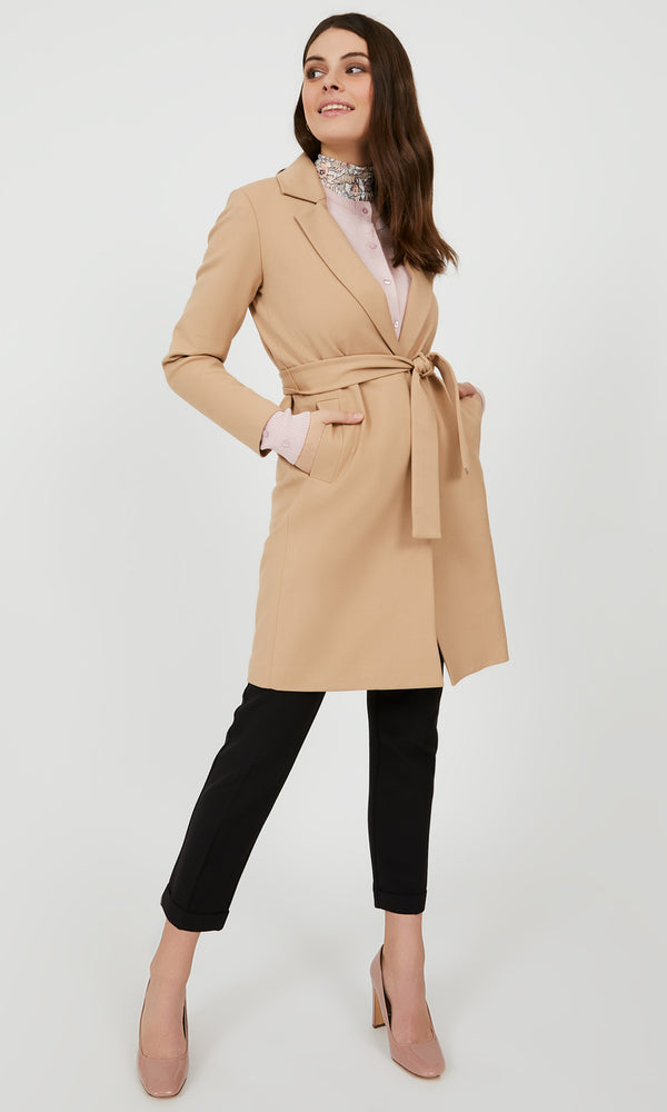 Sash Belt Wrap Coat