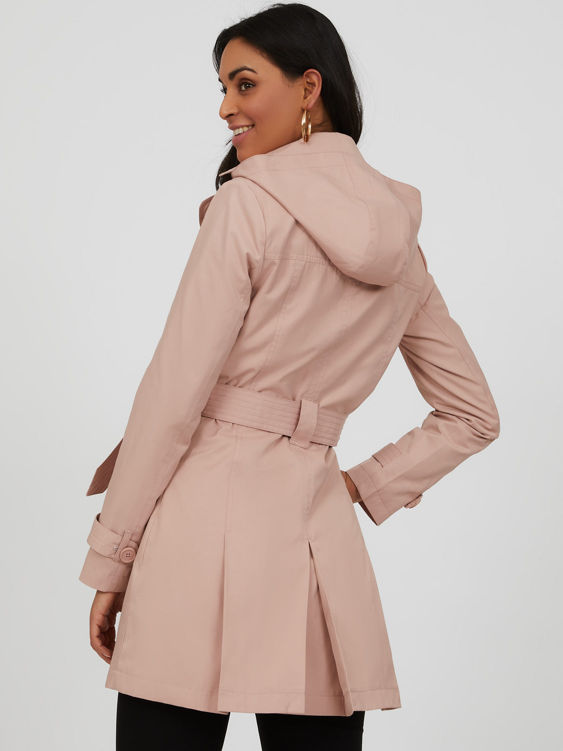 Belted Lapel Collar Trench Coat
