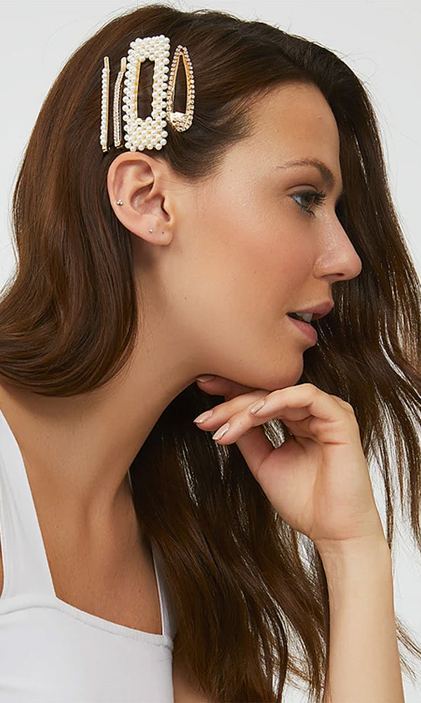 4-Pack Bejeweled Barrettes
