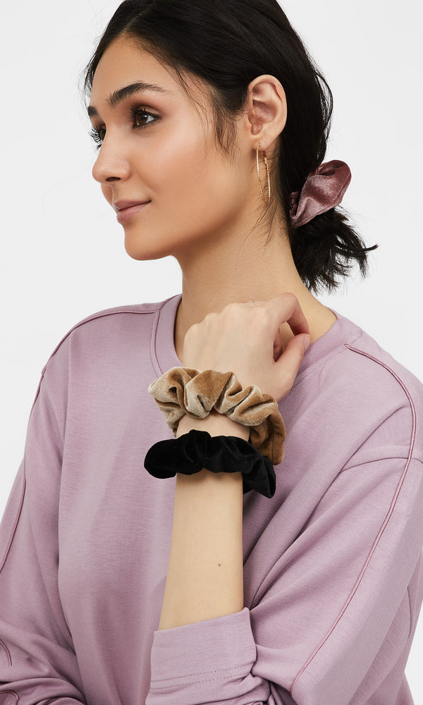 3-Pack Velvet Scrunchies