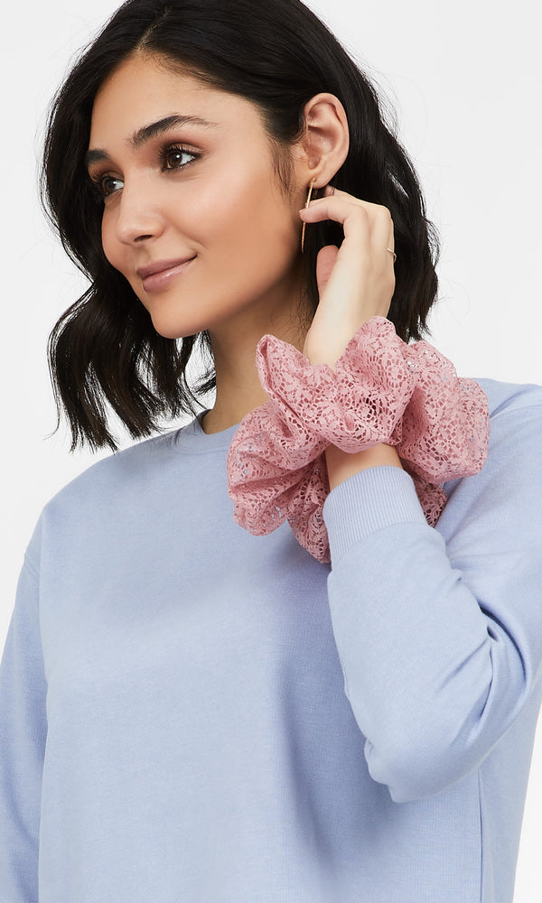 Large Lace Scrunchie