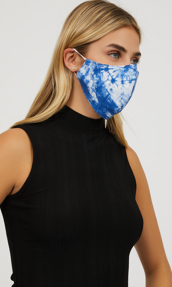 Tie Dye Reusable Cloth Face Masks With Filter Pocket (Pack of 2)