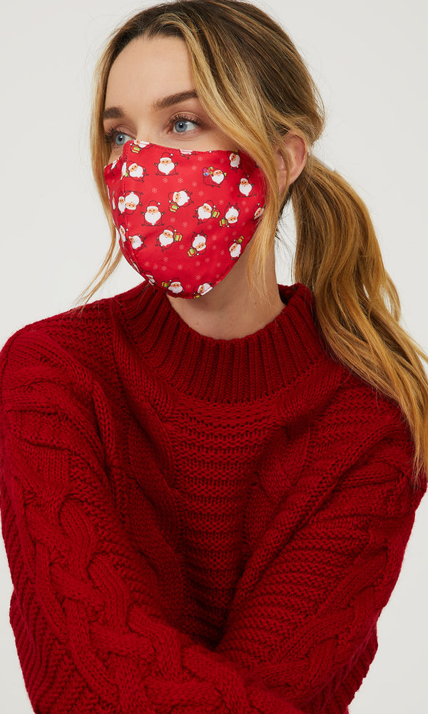 Christmas Reusable Cloth Face Masks With Filter Pocket (Pack of 2)