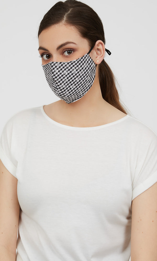 Reusable Cloth Checkered Face Masks (Pack of 2)