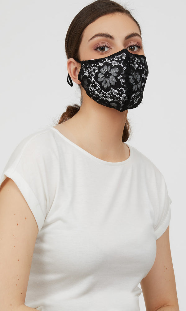 Reusable Cloth Lace Face Masks (Pack of 2)