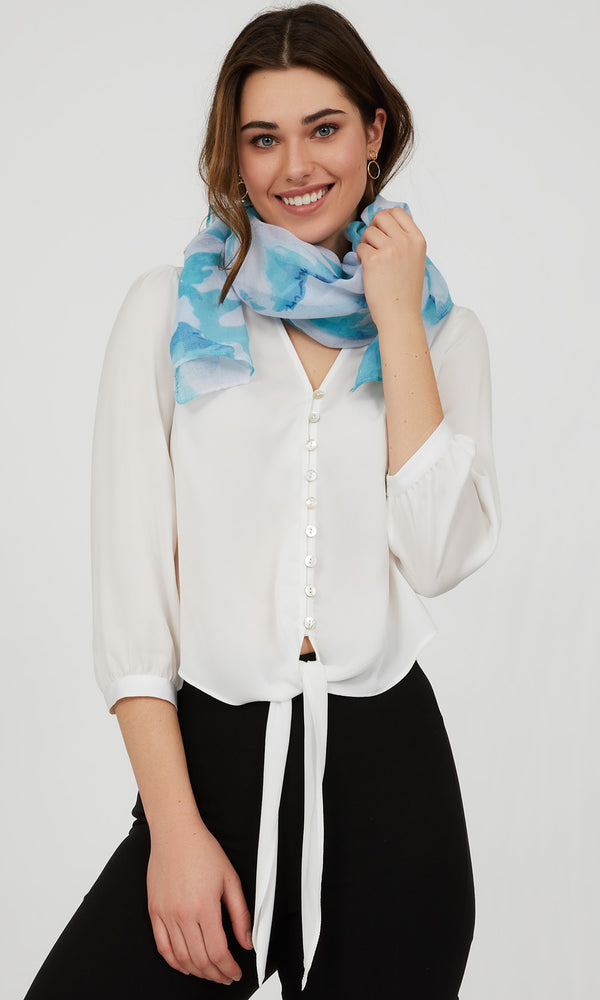 Aquarelle Flower Scarf