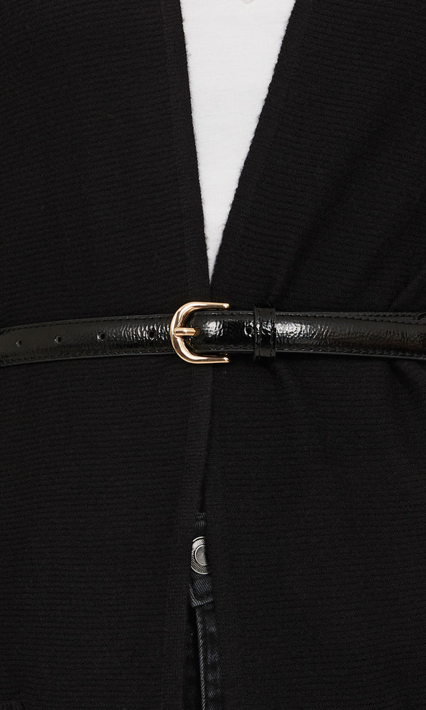 Chain & Faux Leather Belt