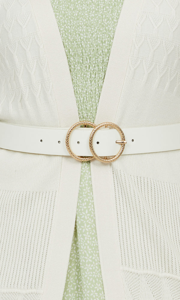 Textured Double Loop Belt