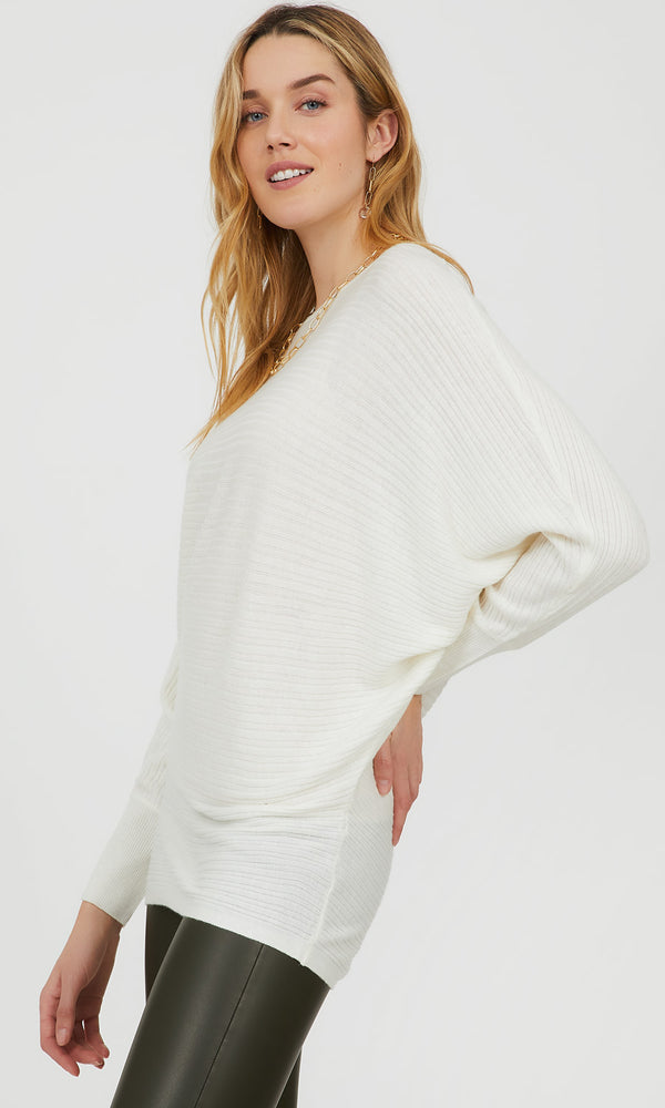 Dolman Sleeve Variegated Stitch Sweater