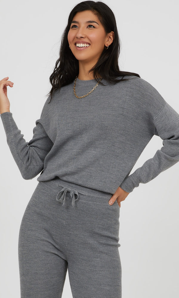Crew Neck Knit Pullover Sweater