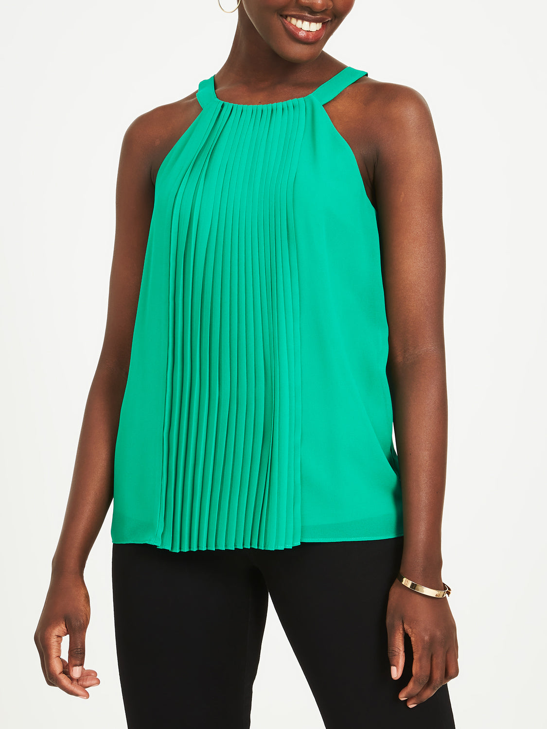 Pleated Halter Top