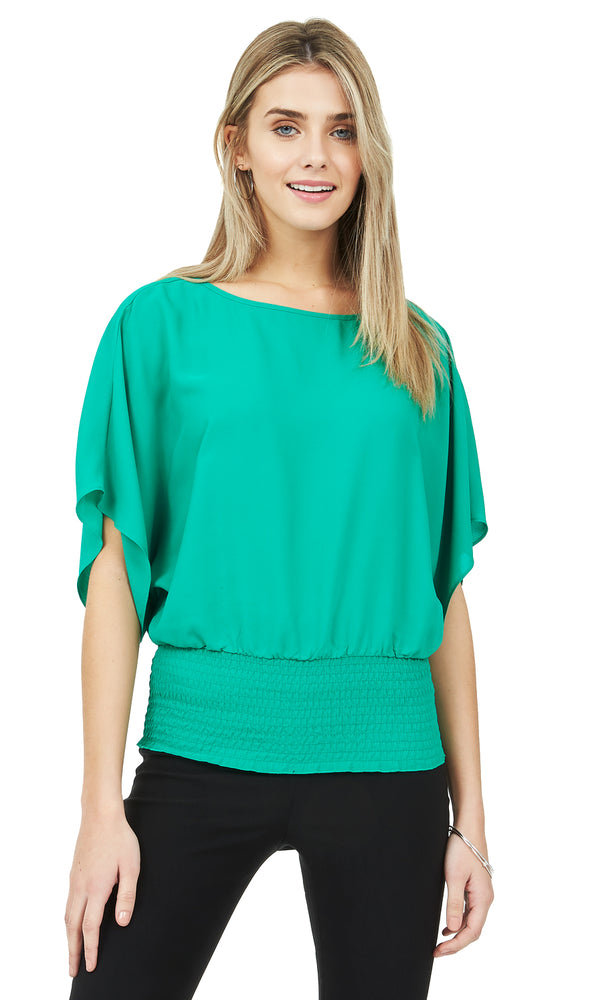 Dolman Sleeve Smocked Top