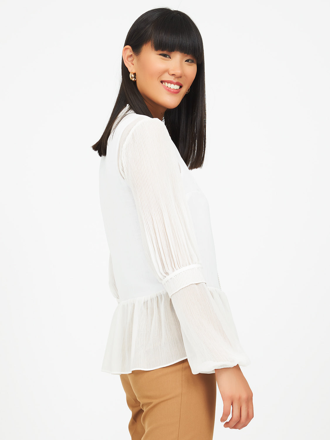 Peplum Blouse With Ruffles