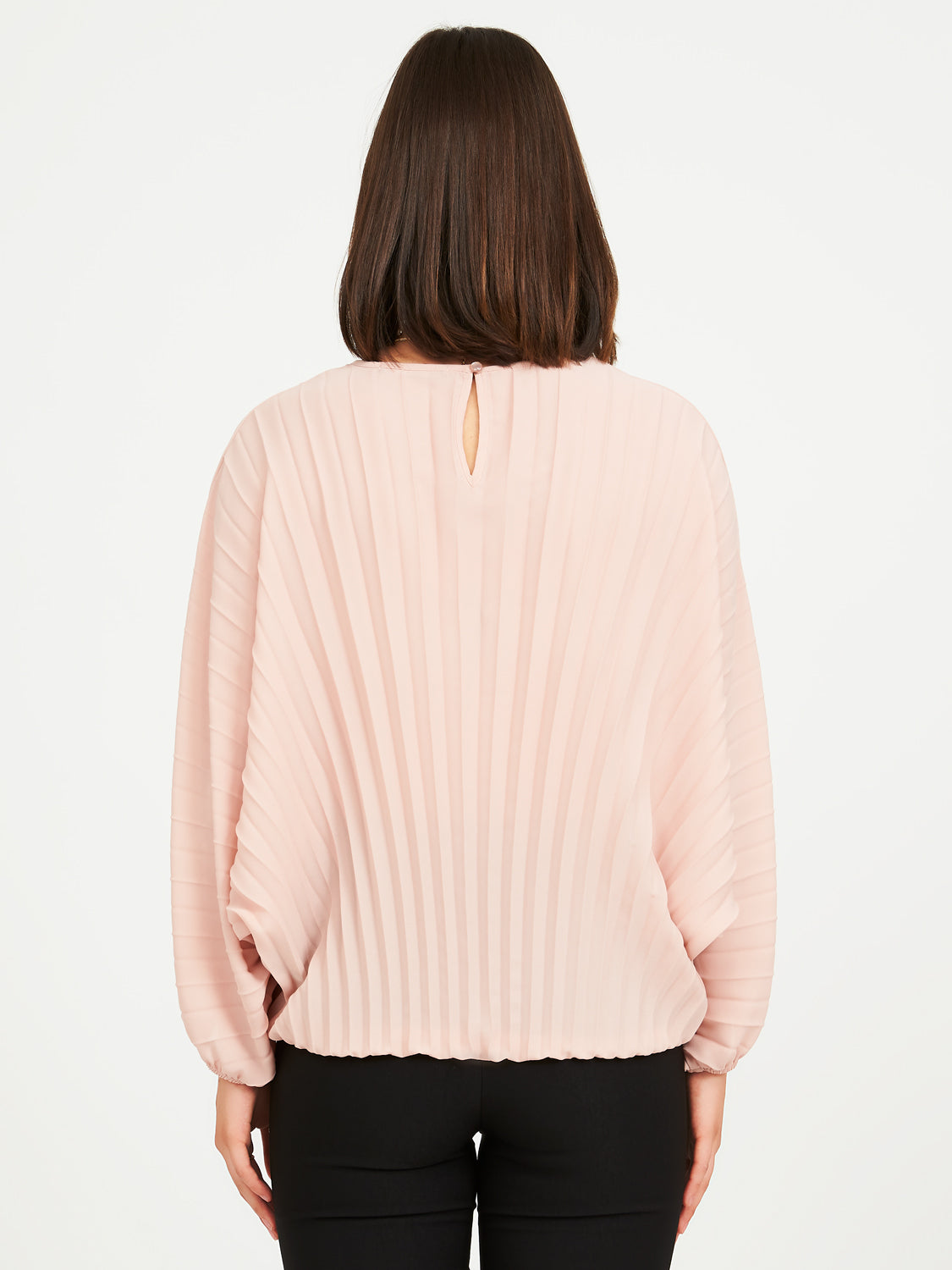 Starburst Pleat Chiffon Blouse
