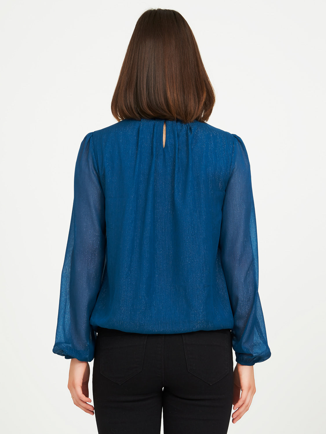 Tone On Tone Woven Lurex Blouse