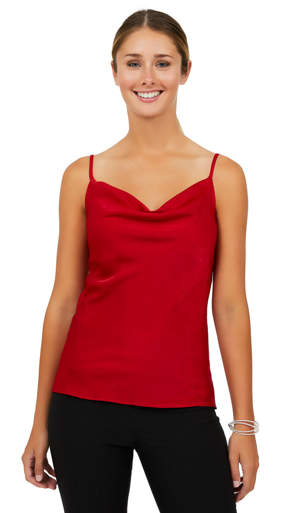 Satin Drape Front Camisole
