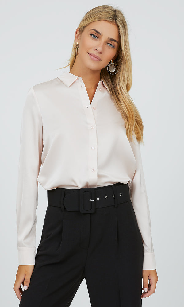 Sophisticated Satin Dress Shirt