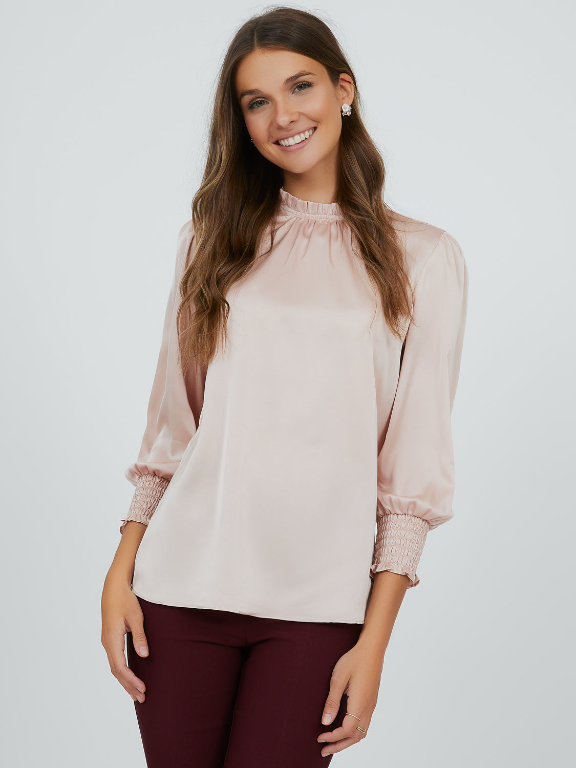Sleek Satin High Neck Top