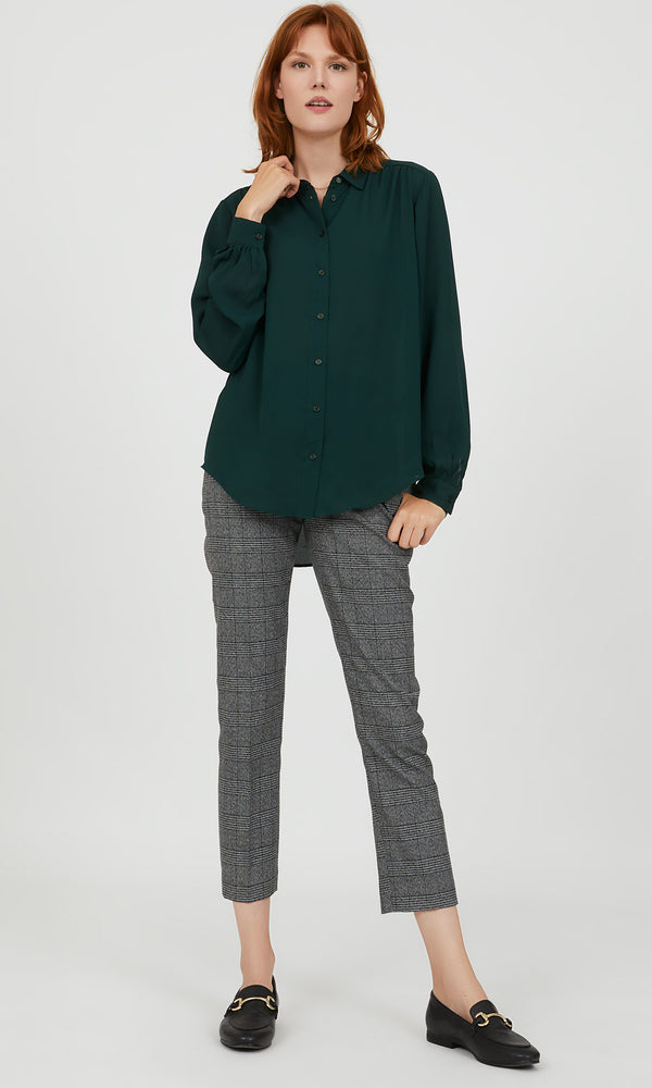Chiffon-Button-Down-Blouse