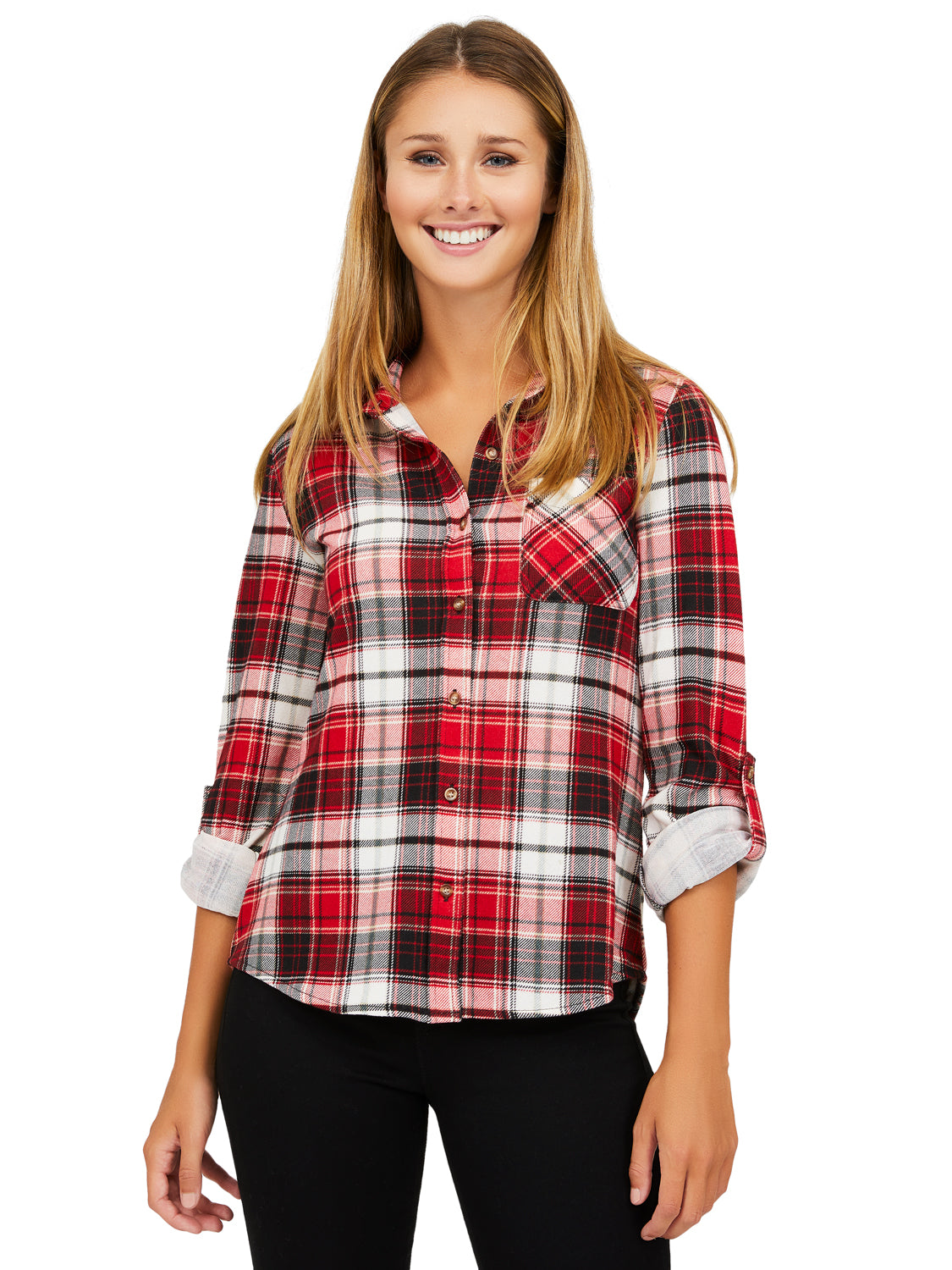 Plaid Sherpa Lined Button-Down Shirt