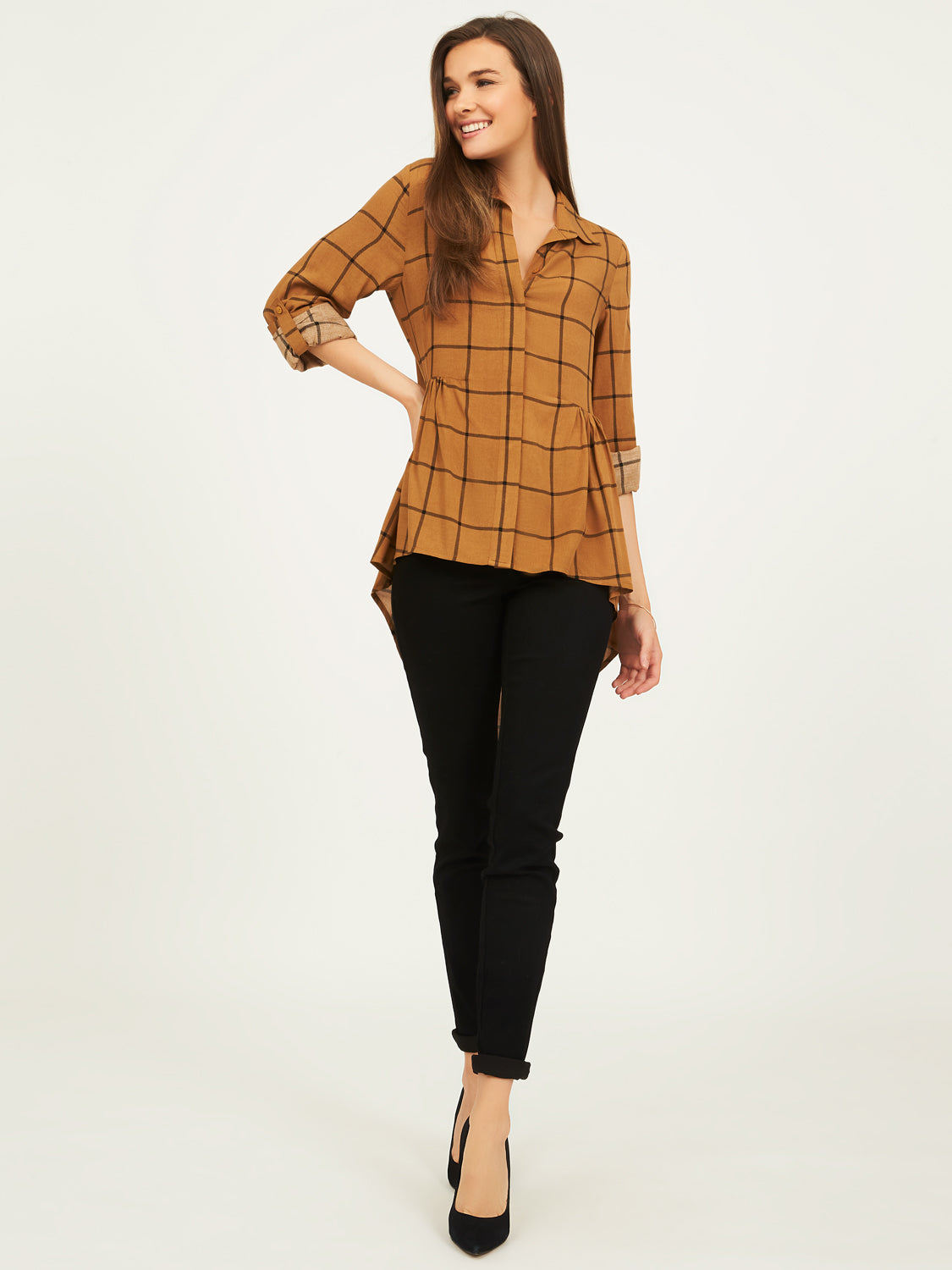 Long Sleeve High-Low Blouse