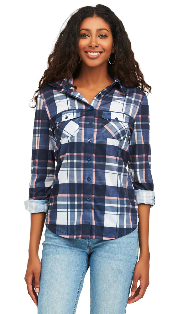 Plaid Button-Down Shirt