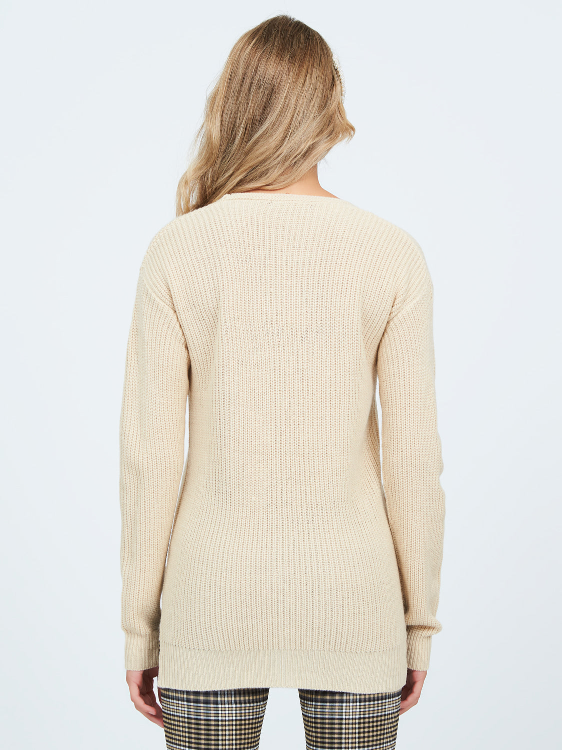 High-Low V-Neck Sweater
