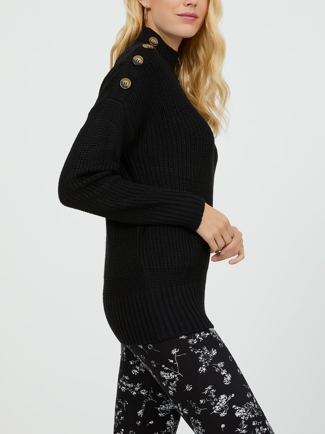 Long Sleeve Mock Neck Sweater