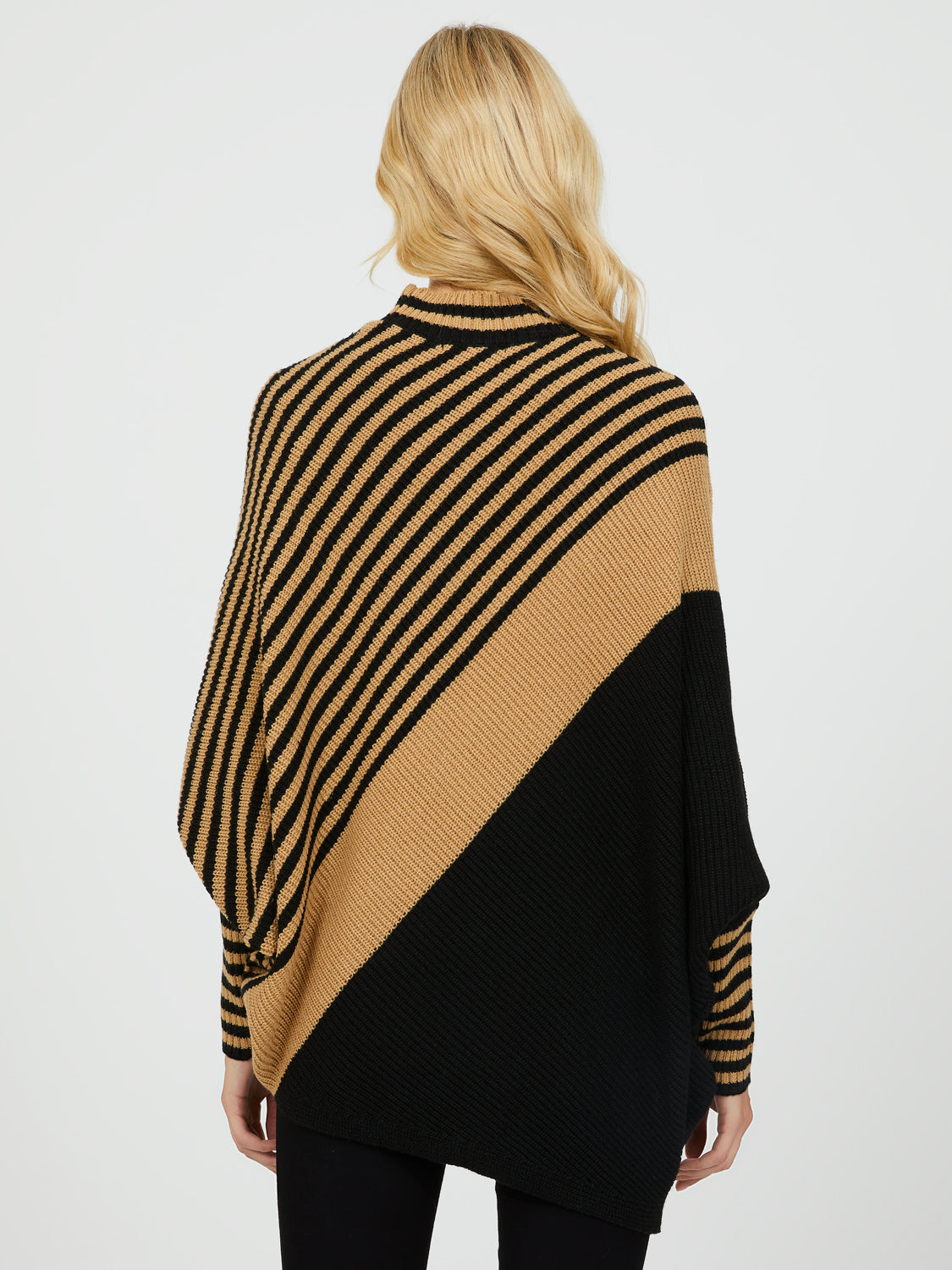 Asymmetrical Colour Block Sweater