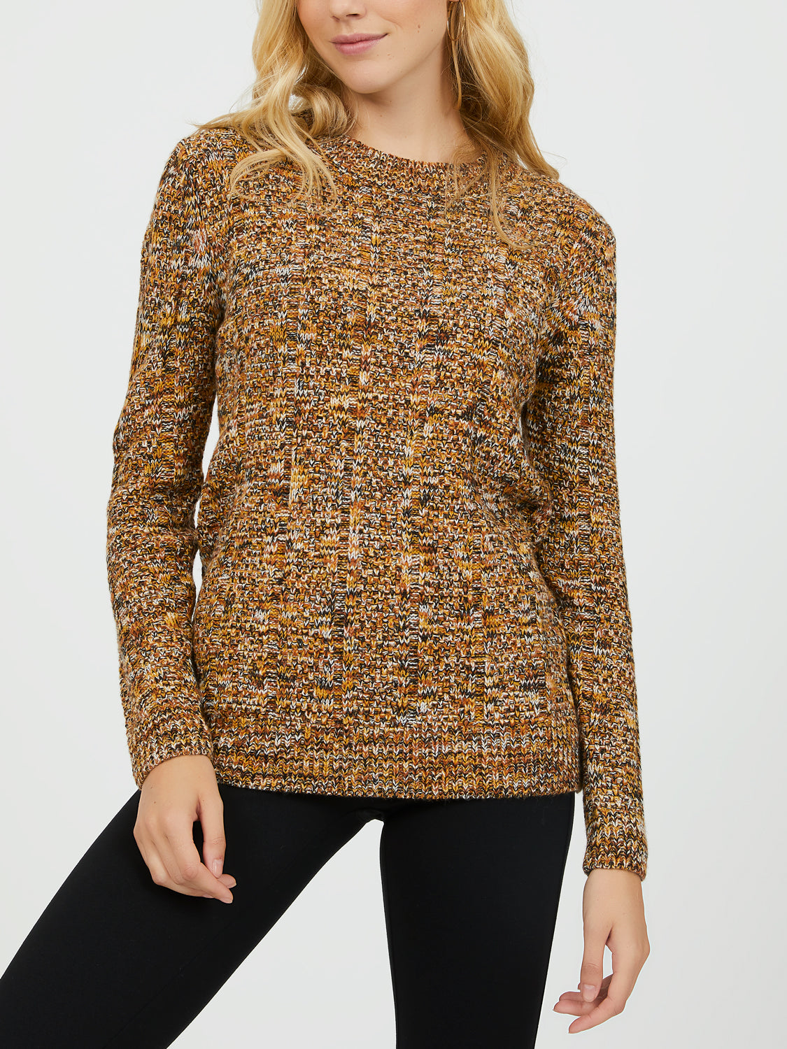 Twisted Yarn Crew Neck Sweater