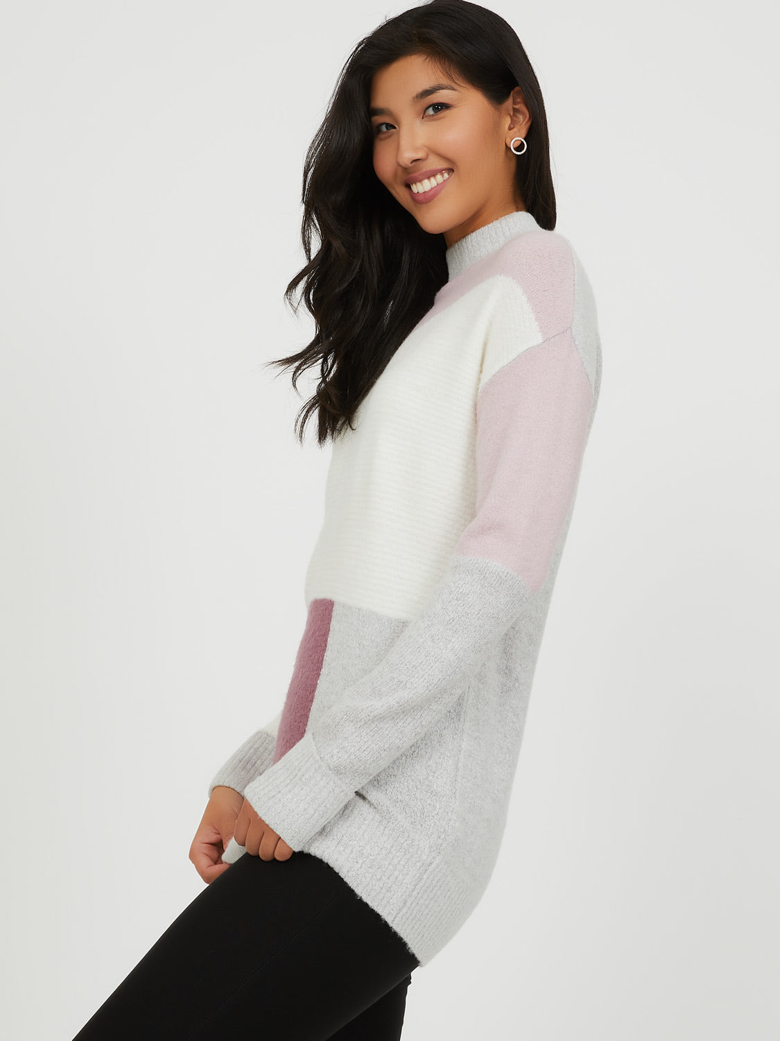Colour Block Sweater Tunic