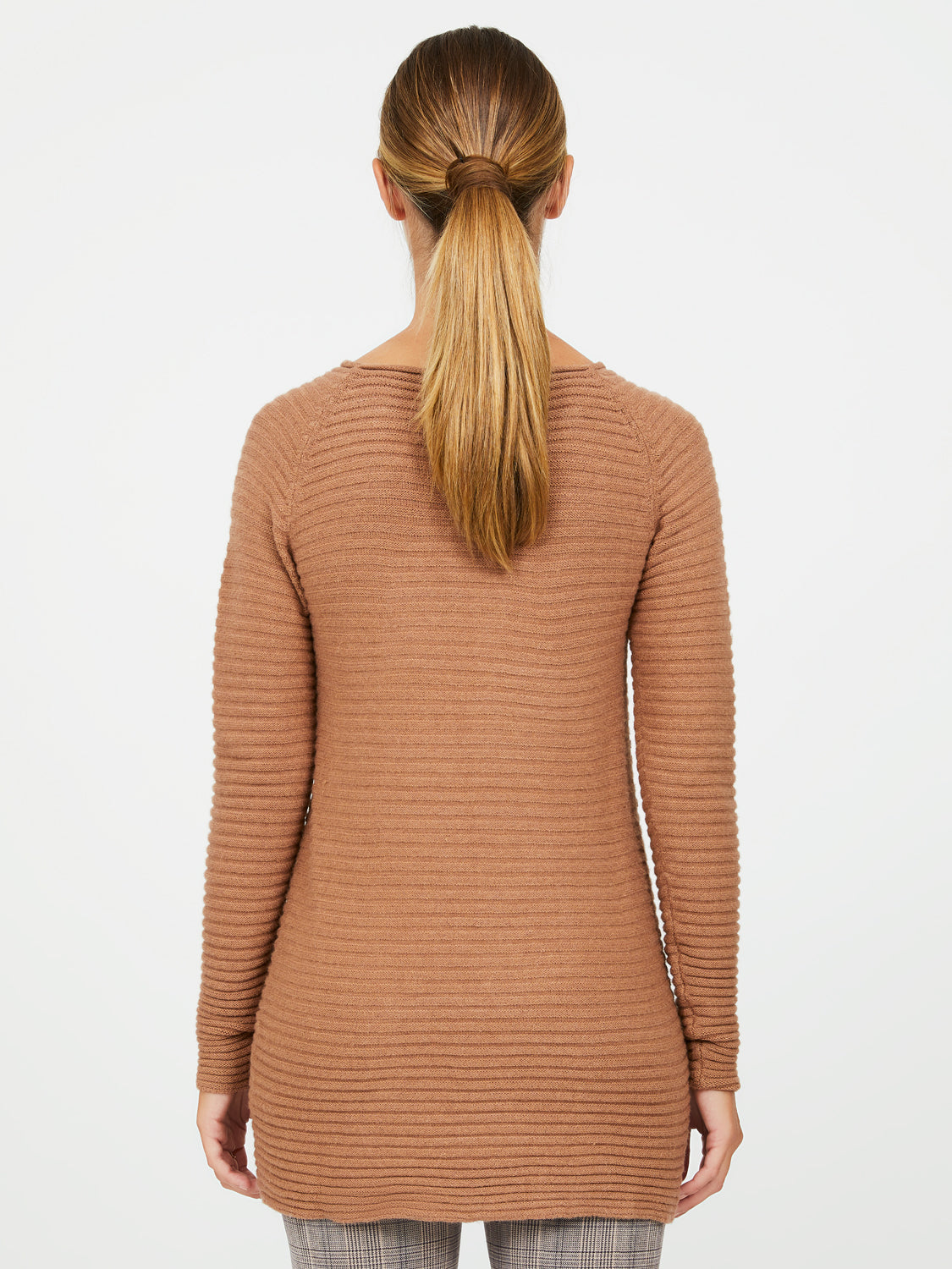 Textured Crew Neck Sweater