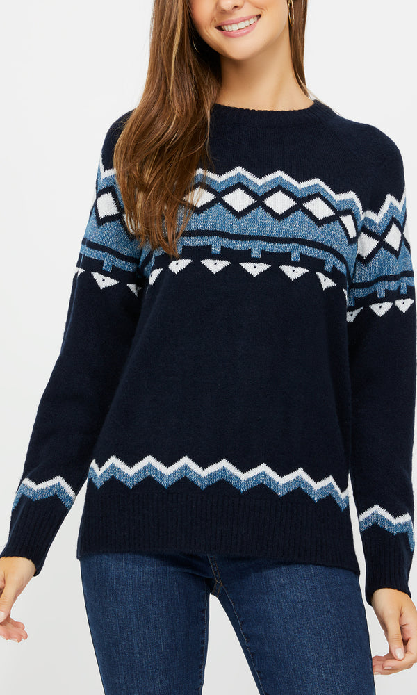 Fair Isle Crew Neck Sweater