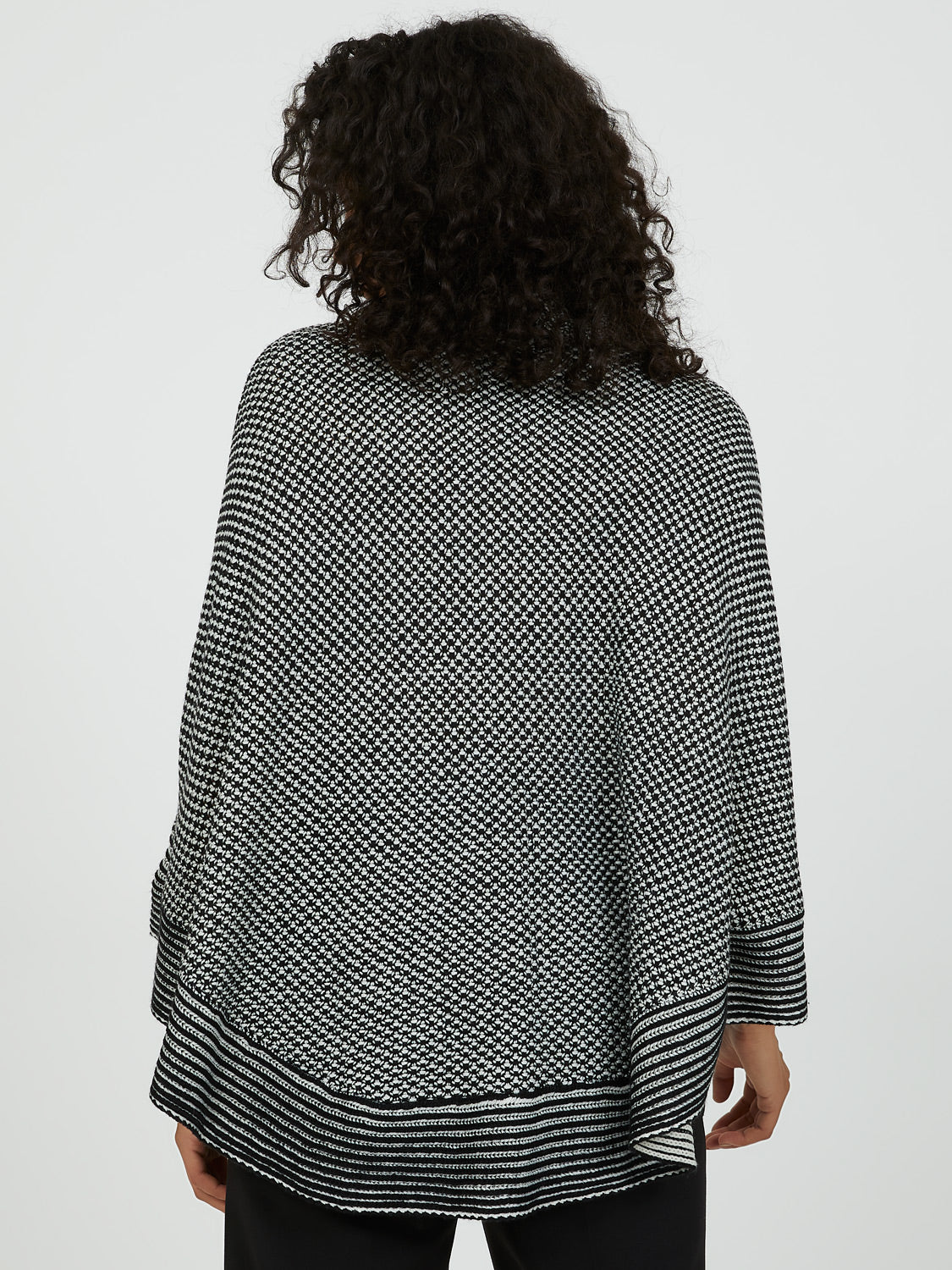 Cowl Neck Sweater Knit Poncho