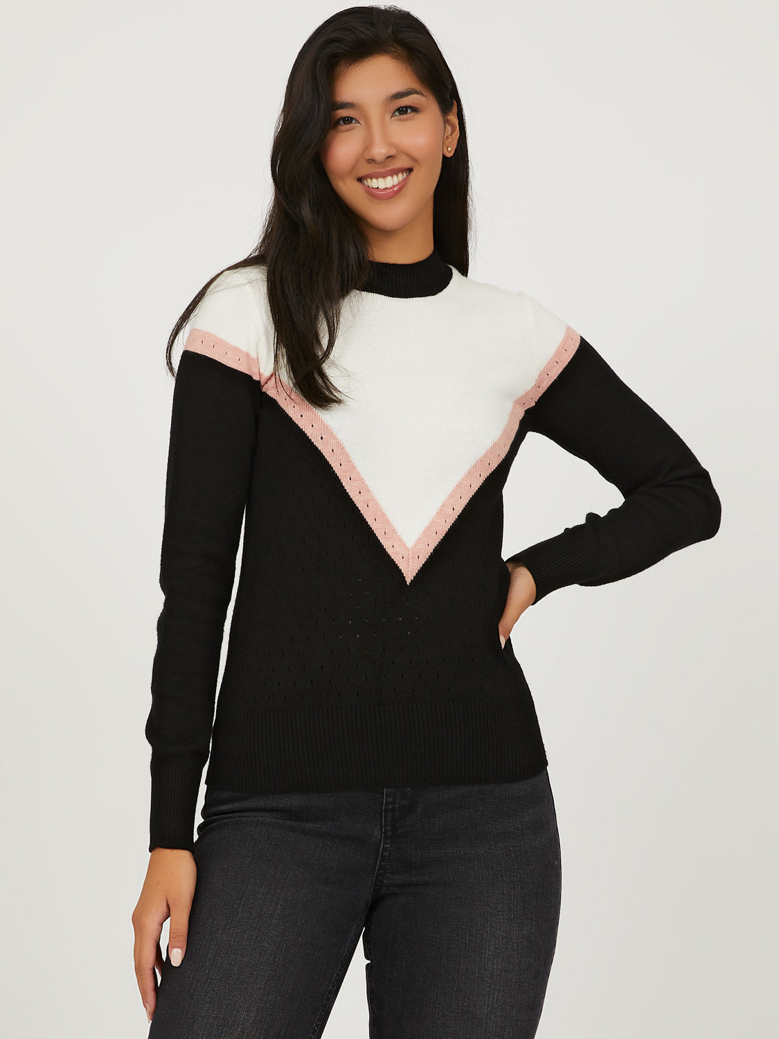 Chevron Crew Neck Sweater
