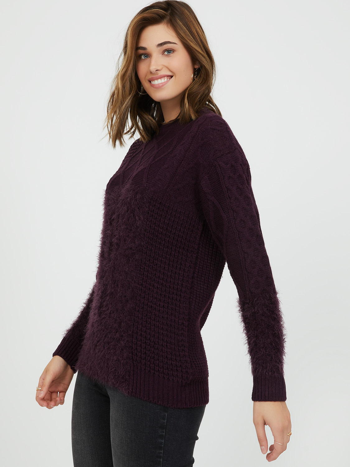 Feather Knit Sweater