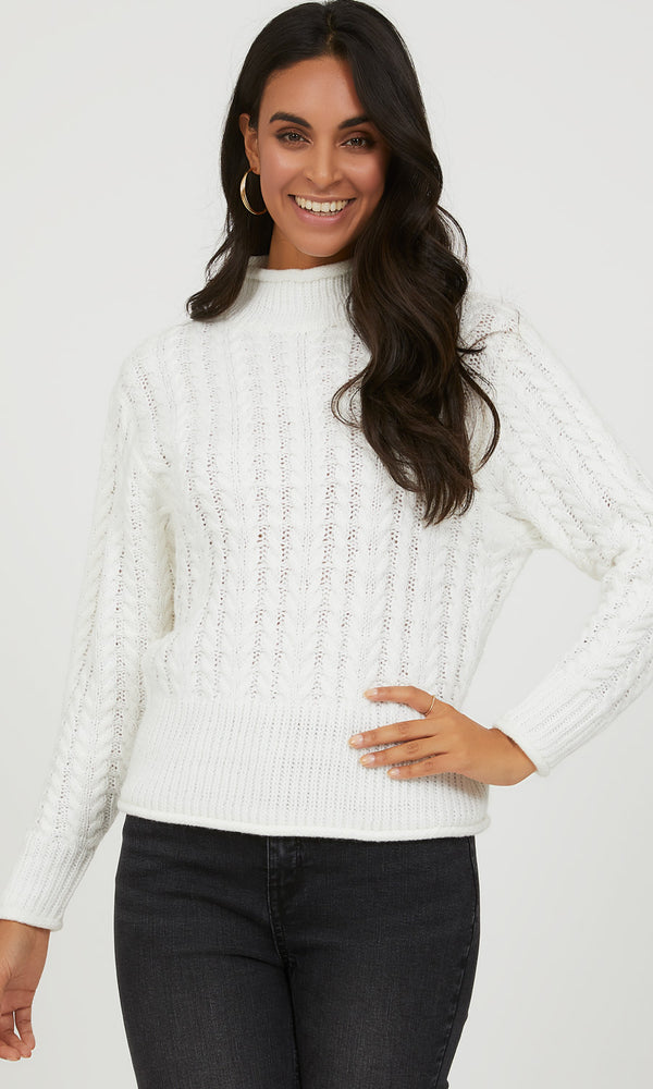 Braided Cable Knit Sweater