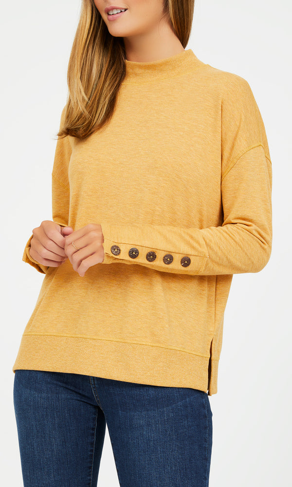 French Terry Crew Neck Sweater