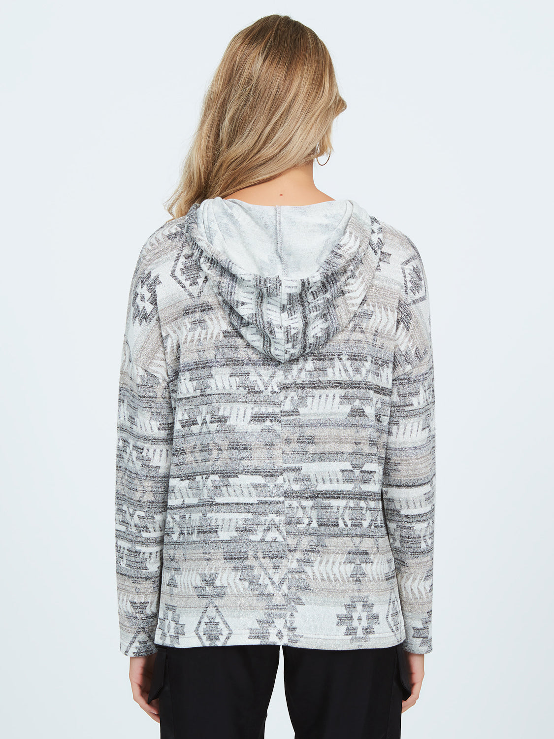 Metallic Knit Sweater Hoodie