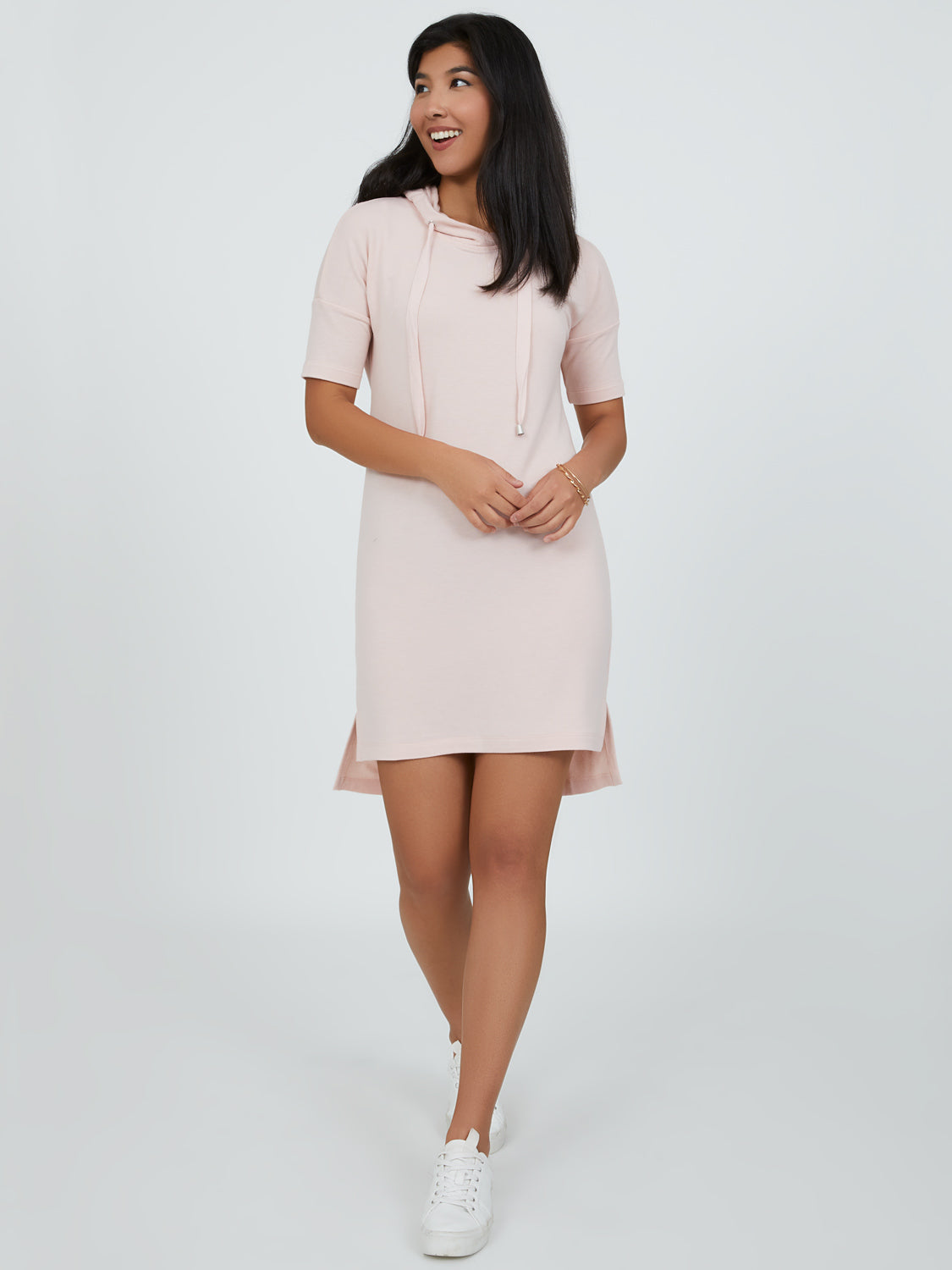 Hooded French Terry Tunic Dress