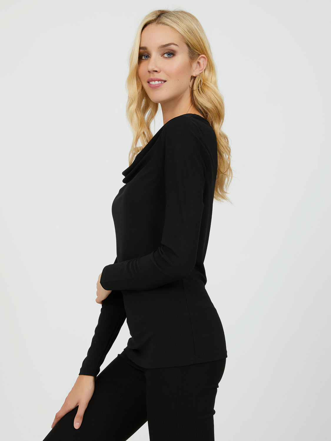 Long Sleeve Crepe Knit Top