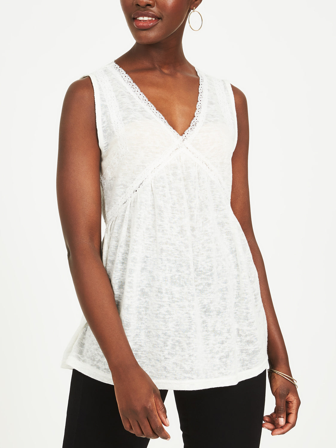 Empire Waist Lace Tank Top