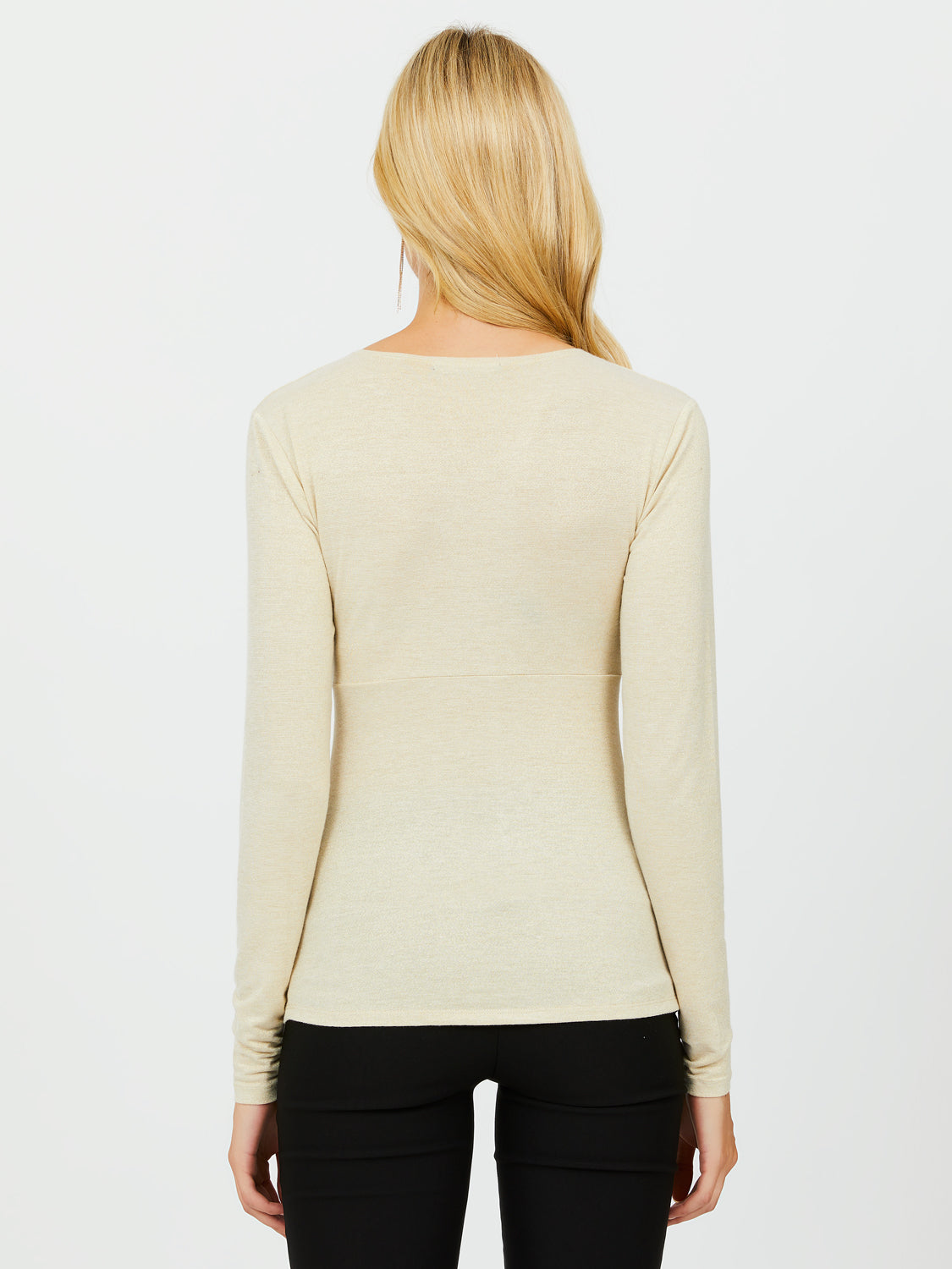 Knot Detail Sweater Knit Top
