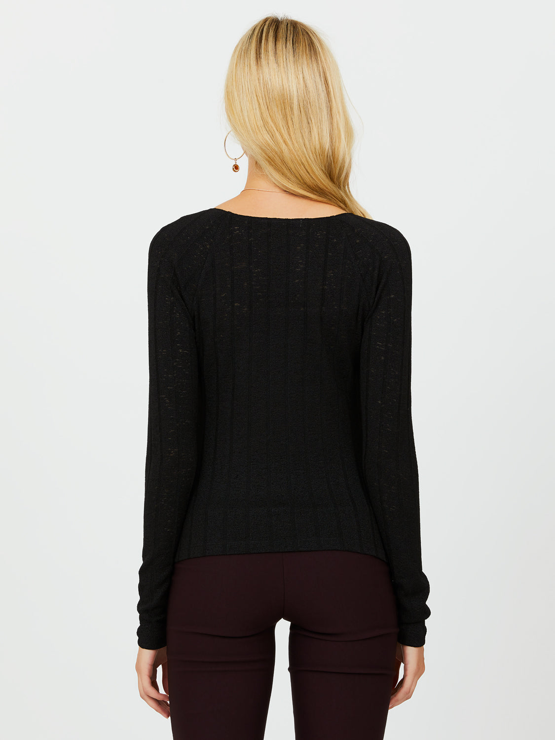 Long Sleeve Square Neckline Top