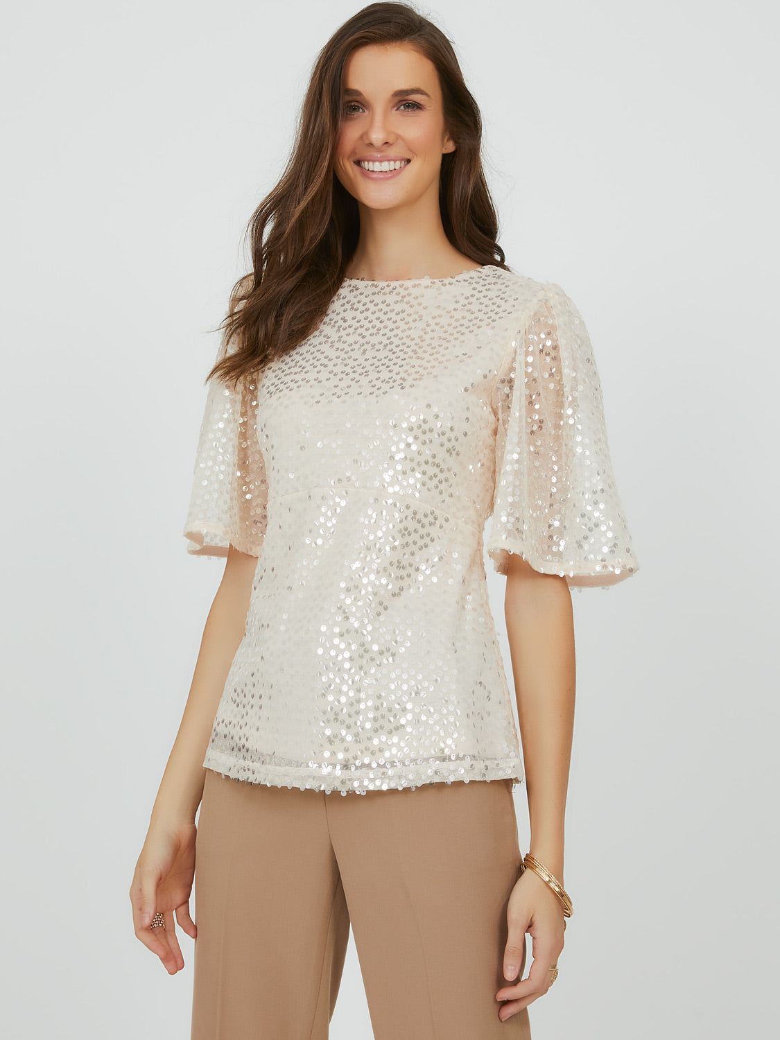 Sequin Empire Waist Top